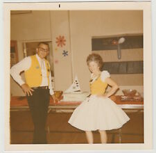 Vintage 70s PHOTO Jets Square Dance Club Couple In Dancing Outfits