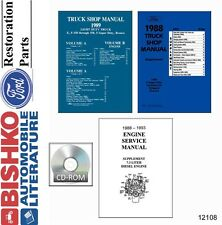1989 Ford Truck Light Duty F150 F250 F350 Shop Service Repair Manual CD
