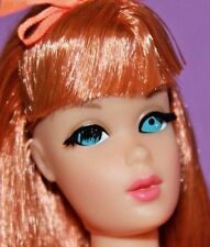 Vintage Barbie REPRO NUDE Titian COPPER PENNY Red Twist N Turn TNT w/Tag & STAND