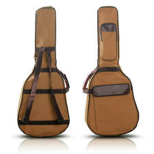 Gig Bag Case Padded Strap Backpack for Folk Acoustic Guitar 39 40 41 Inch Coffee