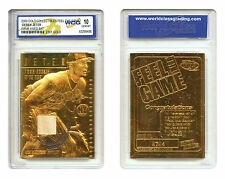 DEREK JETER 2000 Feel the Game *Game Used Bat* 23KT Gold Card Graded GEM MINT 10