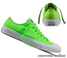 Men Women CONVERSE All Star CHUCK 11 NEON OX GREEN GECKO Trainers Shoe UK SIZE 7
