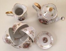Vintage Kahla Porcelain Fine China Gold Trim Madonna GDR German Tea  Set Creamer