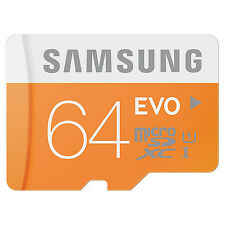 Samsung Evo 64GB Micro SD SDHC Memory Card 48MB/s Class 10 UHS-I in Sydney