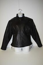 Black Hills Riding Gear - Leather Motorcycle Jacket - Large - Removable Lining