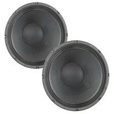 Pair Eminence Delta-12B 12 inch Woofer Midbass Replacement PA Speaker 16ohm 400W