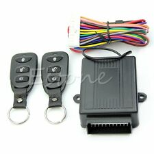 New Car Central Door Lock Kit Locking Keyless Entry System Remote Control DC 12V