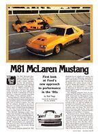 1981 M81 McLaren Mustang Road Test & Technical Data Article