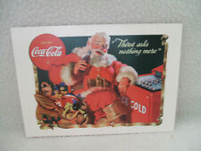 "Coca Cola Coke PostCard Advertising Santa Drinking Coke USA Reproduction 4""x6 """