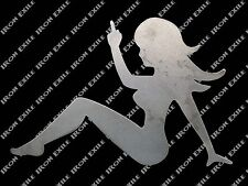 Trucker Lady Girl Mudflap Nude Sexy Garage Wall Art Hot Rat Rod Motorcycle LH
