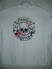 New ZOMBIE HUNTER  T-SHIRT XXL WHITE 2XL