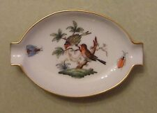 HEREND China Baroness ROTHSCHILD BIRD Insects Vintage Porcelain ASHTRAY Trinket