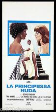 LA PRINCIPESSA NUDA LOCANDINA CINEMA FILM AJITA WILSON SEXY 1976 PLAYBILL POSTER