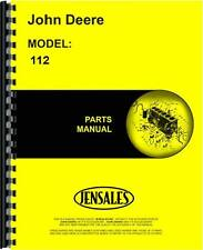 John Deere 112 Lawn & Garden Tractor Parts Manual (250,001 and up) (JD-P-PC1277)
