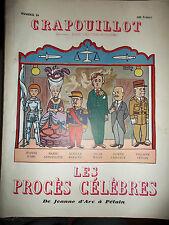 CRAPOUILLOT N 26 Les procès célèbres de Jeannne d'Arc à Pétain