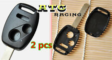 2X Uncut Blade Replacement Keyless Remote Shell Key FOB for HONDA 2+1 Buttons