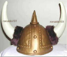 Two Gold Viking Helmets Adult NEW Costume Thor Plastic Unisex Medium Halloween