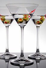Set Of 4 Contemporary Clear Cocktail Martini Margarita Champagne Bar Glass Wine
