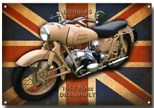 DOUGLAS DRAGONFLY 1957 350CC MOTORCYCLE METAL SIGN.VINTAGE MOTORCYCLES.
