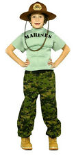 Marine Muscle Chest Military Soldier Child 4-6 Costume