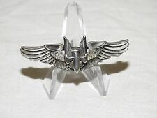 US Army AAF WW2 AMICO STERLING SILVER AERIAL GUNNER MINI WINGS Vtg Pin Badge