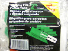 "Globe-Weis Hanging File Folder Tabs 2"" Green 25 per pack"