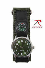 4340 Rothco Watch With Compass - Olive Drab