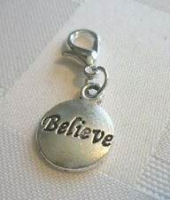 BELIEVE charm dangle-Great on Origami Owl, locket, Lenny & Eva& all  jewelry.