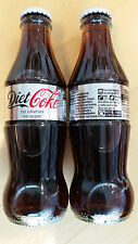 Coca Cola UK - 2015 glass 200ml icon bottle - new paper label, white cap. Full.