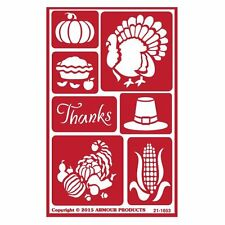 Reusable Over n Over Glass Etching Stencil - ONO Thanksgiving Giving thanks