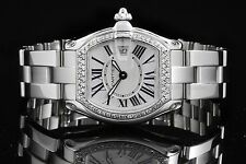 Cartier Stainless Steel Ladies Roadster 2675, Silver Roman Dial, 31mm Watch