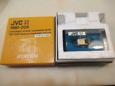 JVC 4MD-20X CARTRIDGE & GENUINE JVC 4DT-20X SHIBATA CD4 QUAD STYLUS IN CASE+BOX
