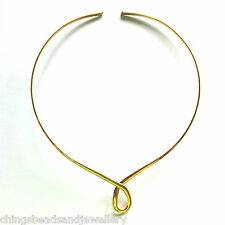 Gold Plated Choker Necklace 3.2X2mm Dia 115mm Findings