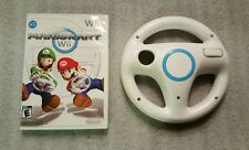 Mario Kart Nintendo Wii Game With Wheel Ready to Play!