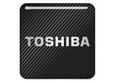 "Toshiba 1""x1"" Chrome Effect Domed Case Badge / Sticker Logo"