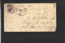 EAST TURNER MAINE COVER,#65 TARGET C  CIVIL WAR PERIOD COVER, MILITARY ADDRESSEE