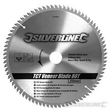 80T Fine Cut 250mm Circular Saw Blade Cutting Wood Concrete Chipboard