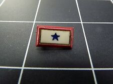 Vintage Service BLUE STAR Red White Blue Lapel Pin 5/16""