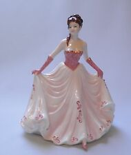 Coalport china figurine joyeux anniversaire style 2 + boîte-made in england