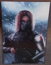 Marvel The Winter Soldier Glossy Print 11 x 17 In Hard Plastic Sleeve