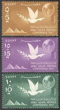 Egypt 1957 Dove/Pyramids/Globe/Conference/Peace/Birds 3v set (n41143)