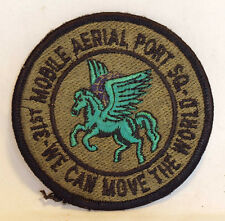 1980's USAF 31st MOBILE AERIAL PORT SQUADRON PATCH WILLOW GROVE PENNSYLVANIA