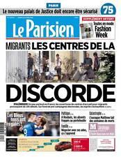 Le PARISIEN ( 75 )n° 22423 du 08/10/2016*+ SUPPLÉMENT la parisienne*MIGRANTS Ctr