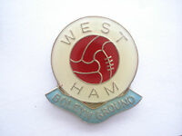 FREE POST - RARE VINTAGE WEST HAM UNITED FOOTBALL CLUB BOLEYN GROUND PIN BADGE