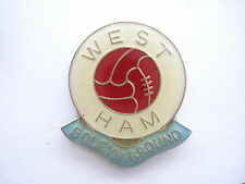 RARE VINTAGE WEST HAM UNITED FOOTBALL CLUB BOLEYN GROUND ICF CASUAL PIN BADGE