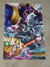 SECRET WARS ART PRINT 1 HAND SIGNED BY GREG HORN  11x17