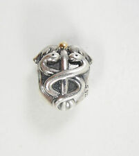 Authentic Pandora Sterling Silver 14K Gold Two Tone Life Saver Charm Bead 791042