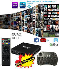 3D HD X96 S905X Quad Core Android Smart TV BOX Fully Loaded WIFI 16G +Keyboard