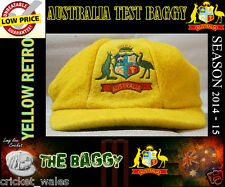 Australia 2015 Baggy Green style Yellow Melton Wool Cricket Cap.Test Ashes