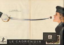 Publicité 1985  ( Double page )  LE CADRE NOIR la haute école du chocolat